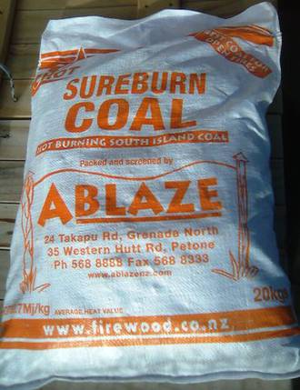Sureburn Coal 20kg bag - Picked up
