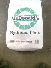 Hydrated Lime - 20kg bag picked up